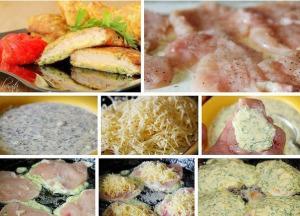 Куриные отбивные с сыром фото