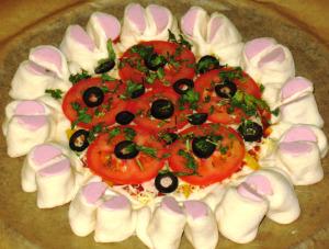 пицца в форме цветка рецепт с фото