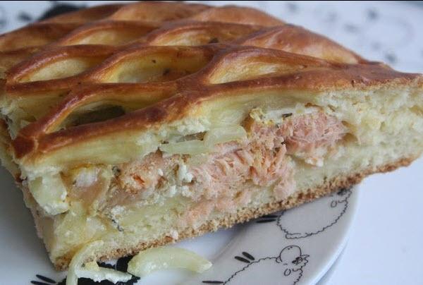 """Рыбный пирог """"Сеточка"""""""