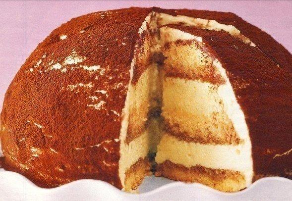 Бисквитный торт Тирамису
