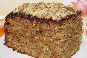 Торт медово-маковый