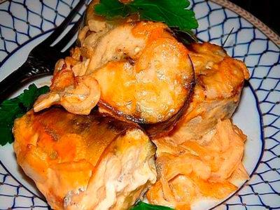 Скумбрия в горчичном соусе