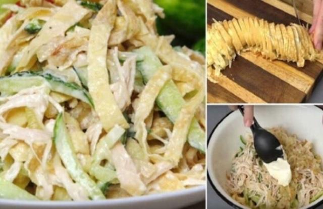 Очень вкусный салат «Загадка для гостей»
