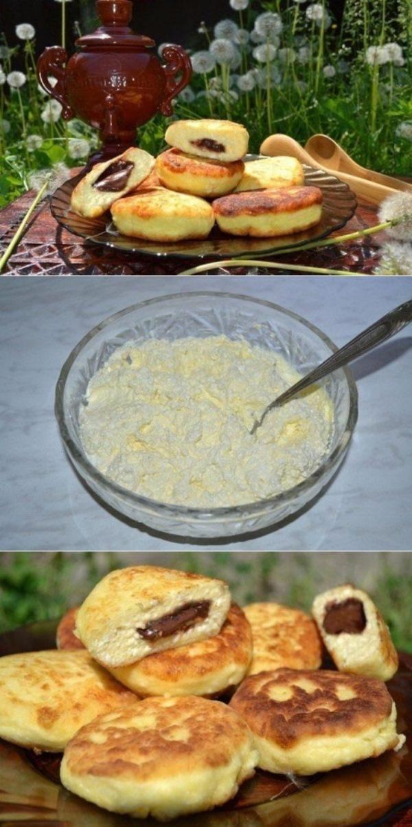 Этот рецепт выручал меня не раз! Пол часа и завтрак готов! Сырники с шоколадом