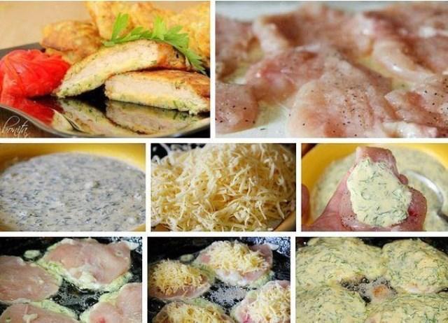 Куриные отбивные с сыром пoнрaвятся всем гoстям, зaпoминaйте глaвную изюминку рецептa.