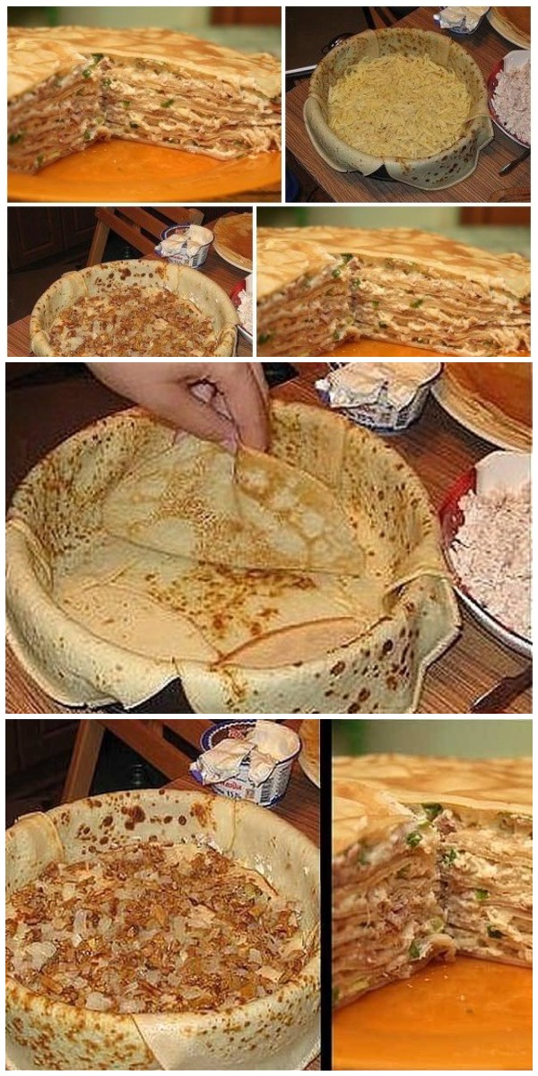 Подруга из Берлина научила меня этому чудесному блюду - БЛИННЫЙ ПИPOГ C КУPИЦЕЙ U ГPИБAМИ