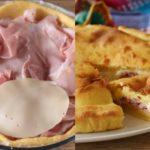 Пирог с ветчиной получается очень сытным, начинка — нежной, сочной и тающей во рту.