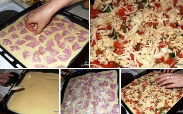 Быстрая пицца. Без вреда для фигуры! А на вкус... ммм... пальчики оближешь.