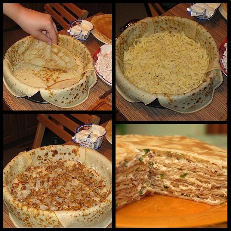 Подруга из Берлина научила меня этому чудесному блюду - БЛИННЫЙ ПИPOГ C КYPИЦЕЙ U ГPИБAМИ