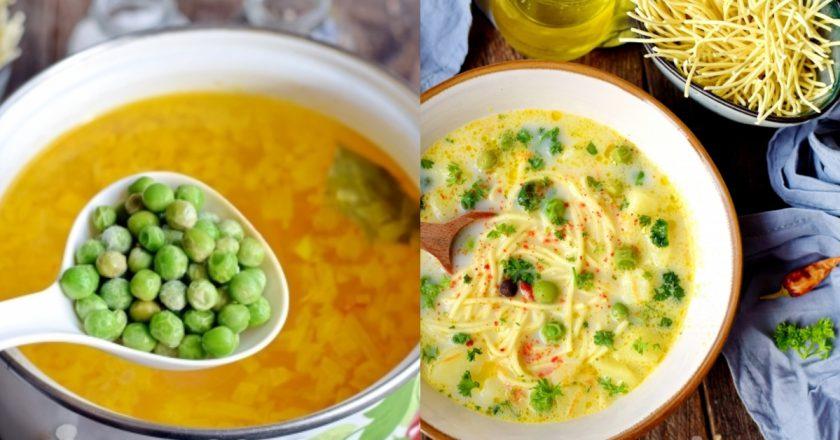 Сырный суп с яичной лапшой и зеленым горошком отлично подойдет для худеющих: тарелка такого горячего удовольствия — спасение для диетических будней!