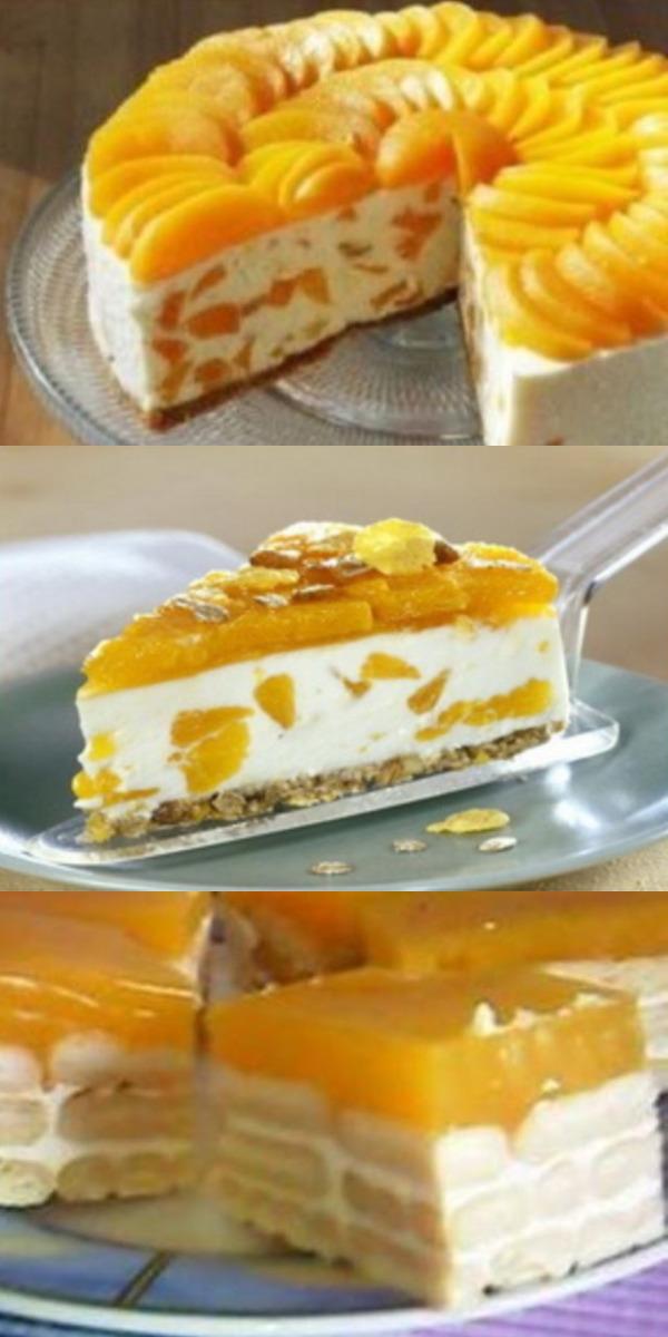 Творожный торт с апельсинами без выпечки — настоящая гастрономическая сенсация!