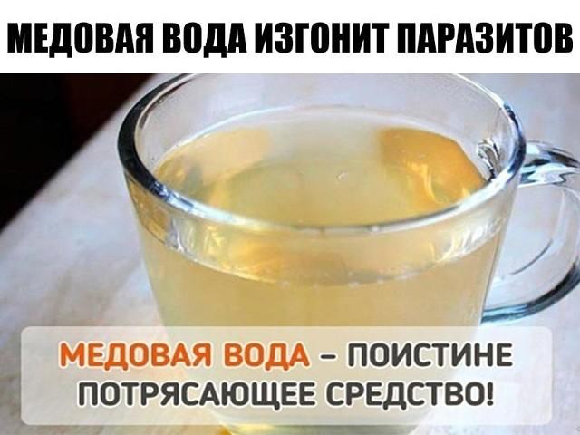 Медовая вода изгонит паразитов,поможет похудеть и многое другое.