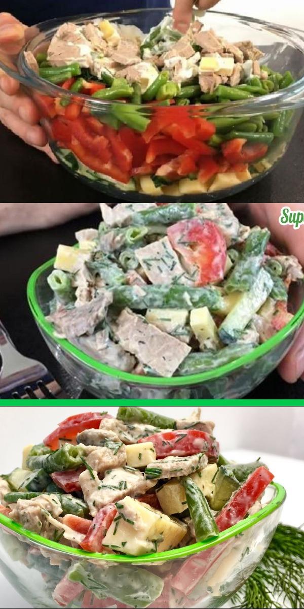 Обалденный салат «Любимчик». ОЧЕНЬ-ОЧЕНЬ ВКУСНО, ПРИГОТОВЬ!