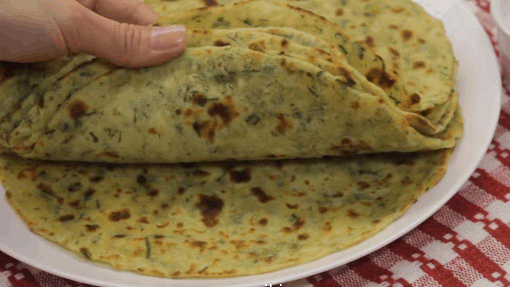 Картофельный лаваш с зеленью — необычно и безумно вкусно