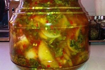 Закуска из зеленых помидоров - мировая закуска! Лучший рецепт!