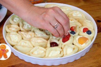 Красивый и очень вкусный пирог «Ягодное лукошко».