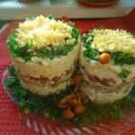 салат грибные пенечки фото