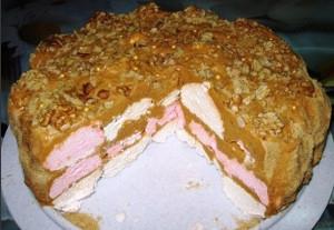 Зефирный торт без выпечки