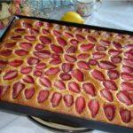 Пирог клубничный