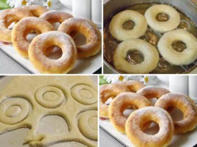 Обалденные пончики на кефире за 15 минут
