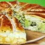 Сочный овощной пирог с сыром