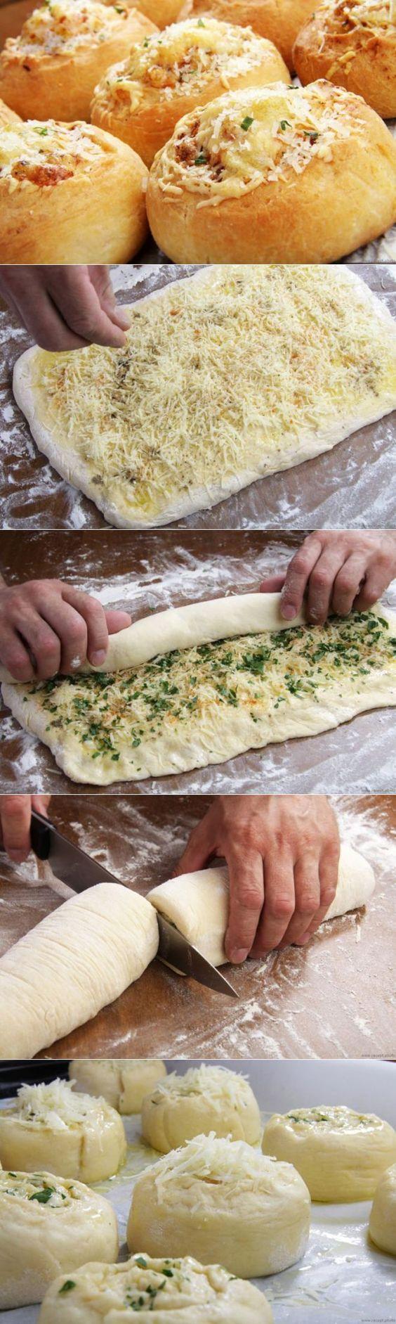 Булочки с сыром из дрожжевого теста
