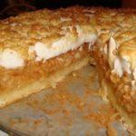 Сливочно - яблочный пирог с суфле