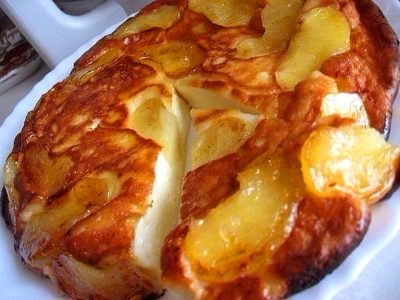 Творожно-яблочный десерт - просто и вкусно!