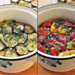 Закуска из маринованных баклажанов и перцев