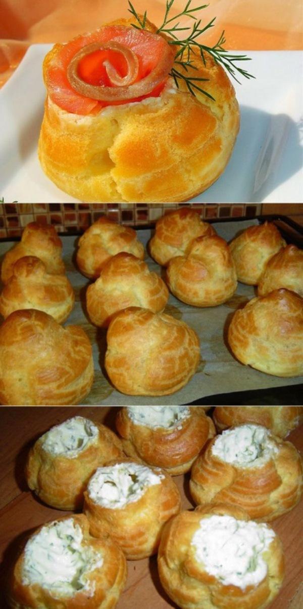 Профитроли — эффектно, ярко, красиво, вкусно! Великолепная закуска для праздничного стола, а так же для фуршета.
