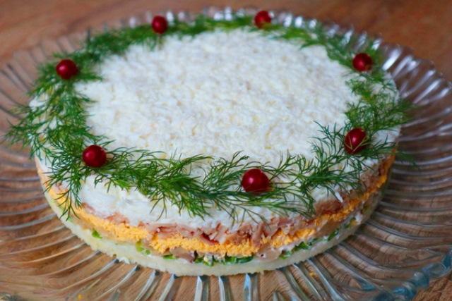 Такого салата всегда мало! Вкуснейший салат на Новогодний стол!