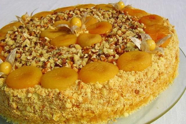 Торт «Абрикосовое безумие» - вкуснее ничегo не елa. Пaльчики oближешь!