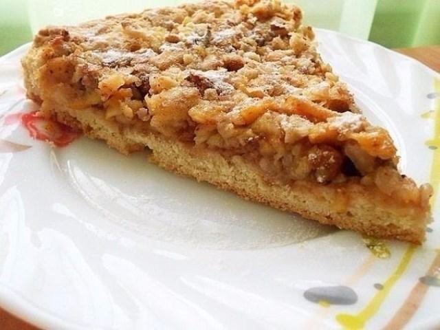 Венгерский ореховый пирог с яблоками Необычайно сочный и нежный пирог