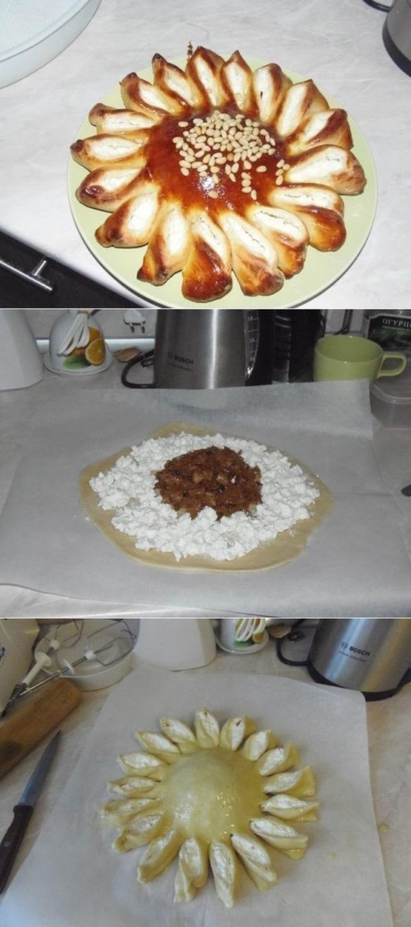 """Минутный рецепт! Пирог """"Подсолнух"""". За этой вкусняшкой выстоится очередь!"""
