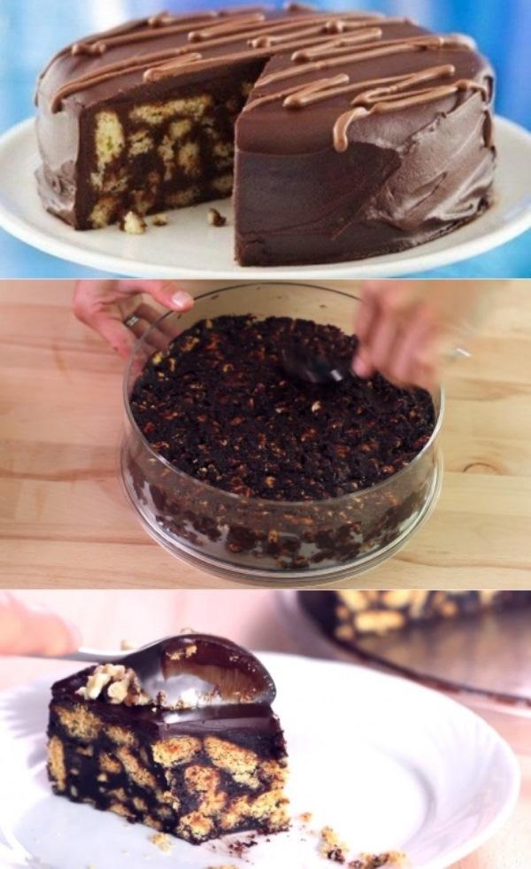 Шоколадный торт готовится сам, без духовки! Вкуснятина на все случаи жизни!