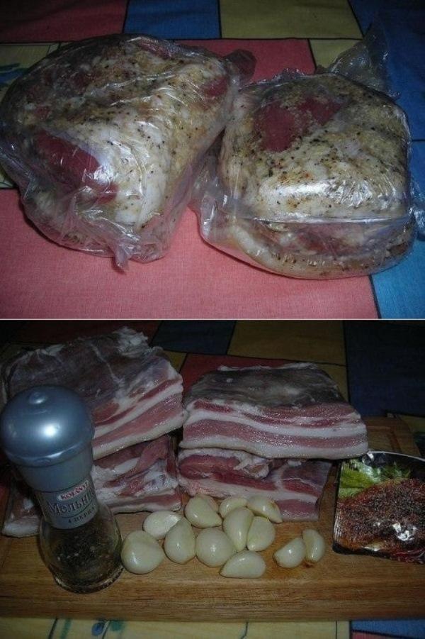 Эконом-блюдо на все времена! Свиная грудинка (в пакетах). Вкус потрясающий!