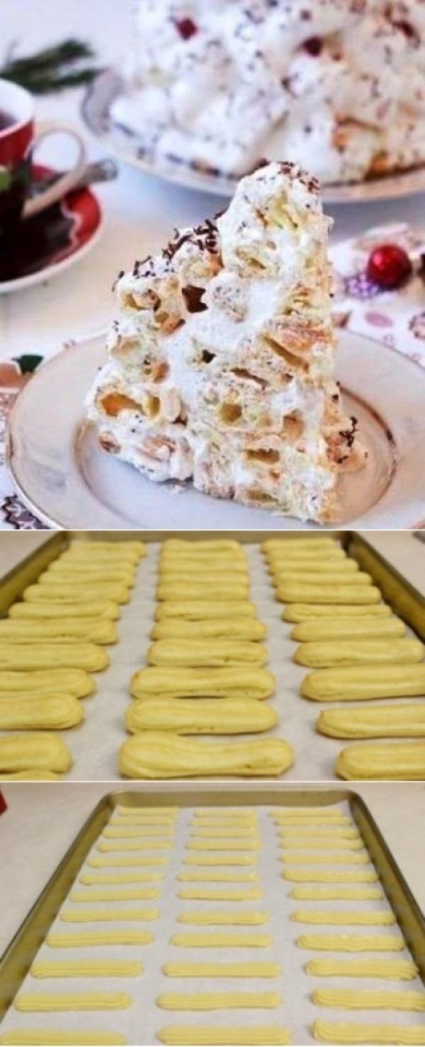 """Торт """"Дамские пальчики"""" по специальному рецепту: получается нежнейшим, просто находка! Сохраните себе."""