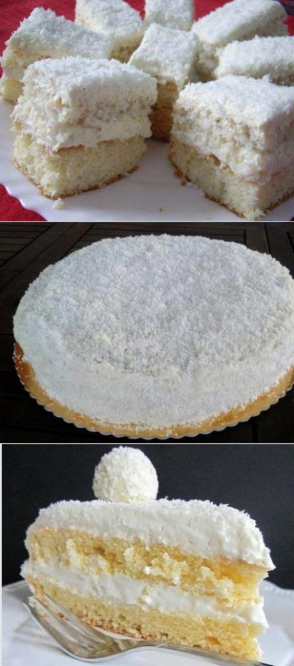 Торт «Рафаэлло»  просто тает во рту. Обалденная штука.
