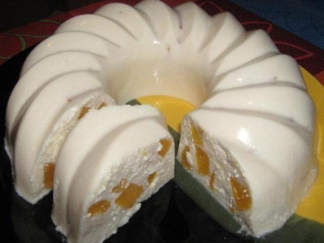 Ленивый творожный кекс с фруктами. Вся семья в восторге!