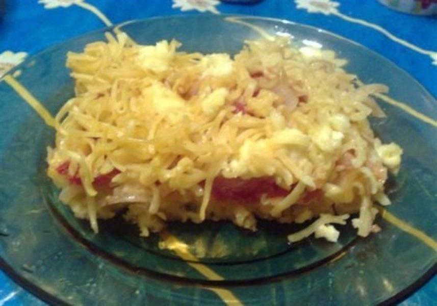 Макароны, запеченные с помидорами — частый гость на нашем столе. Мужу ооочень нравится. Советую.