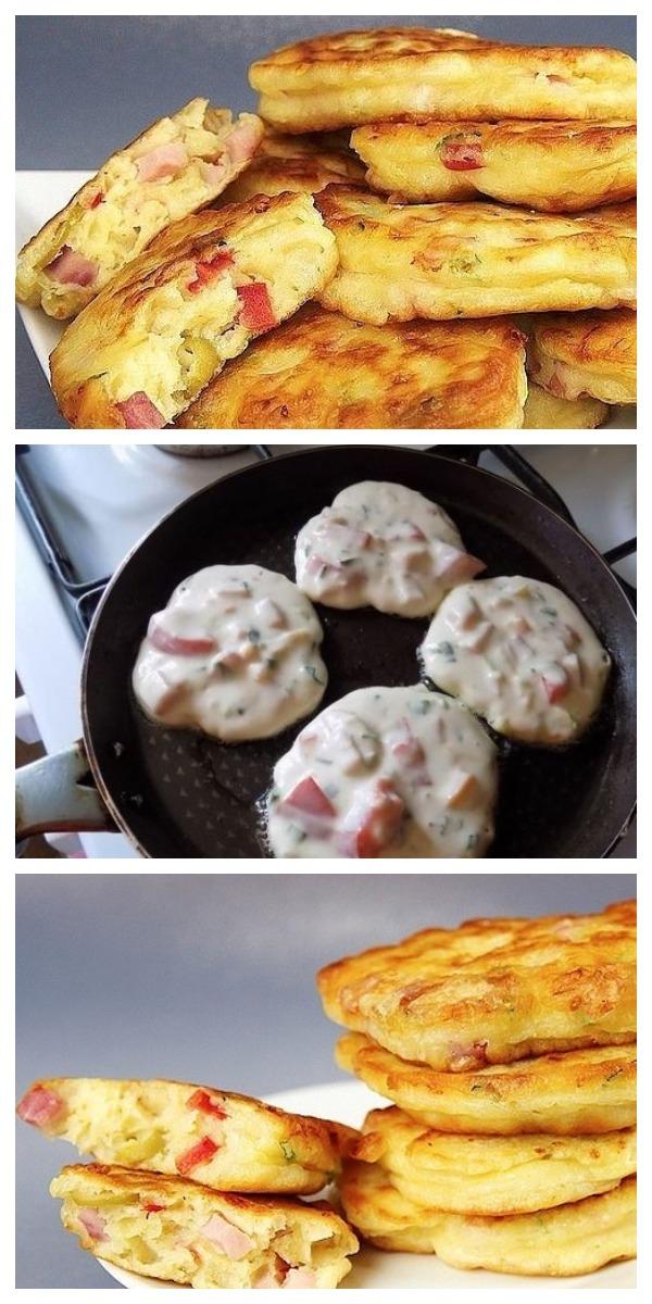 Завтрак-ФУРОР: Оладьи со вкусом пиццы