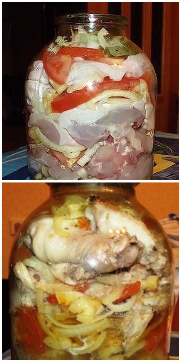 Обалденная курица в банке – рецепт невероятно вкусный