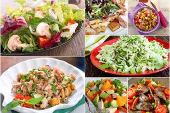 ТОП-7 вкусных салатов без майонеза! Вкусно и полезно!