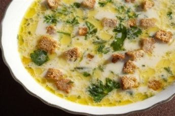 Сырный суп с шампиньонами и сухариками - бомба