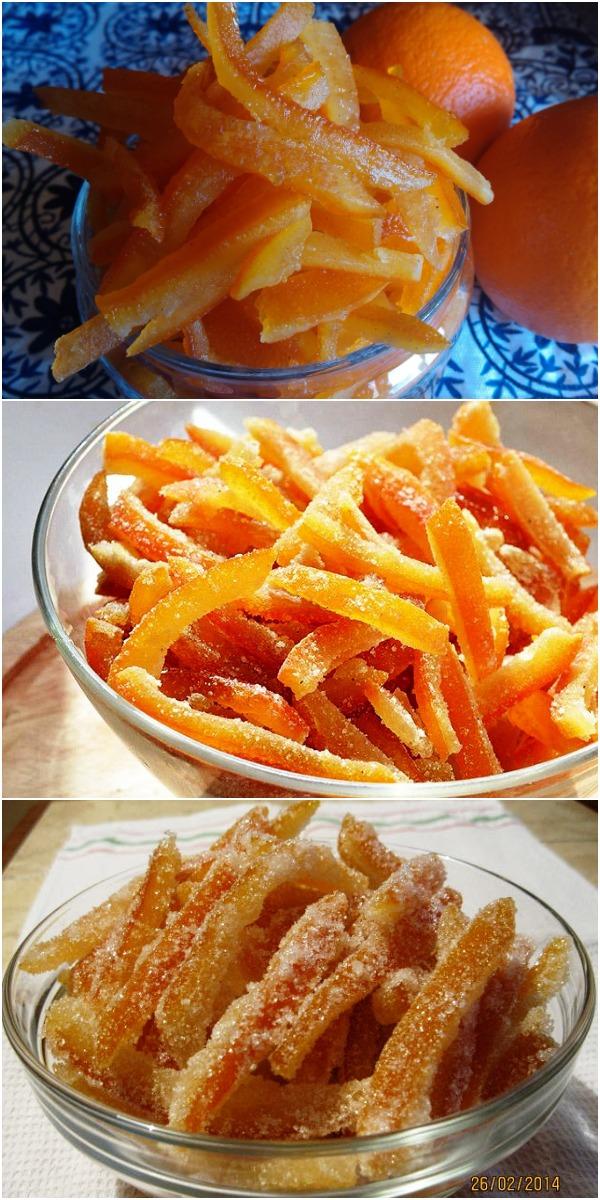 Цукаты Апельсиновые (из апельсиновых корок) — сочно,смачно и очень вкусно!