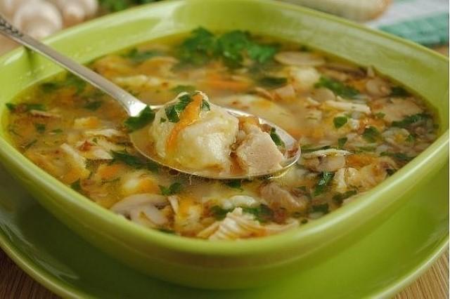 Гречневый суп с грибами и картофельными клецками. Еще один вкусный супчик!