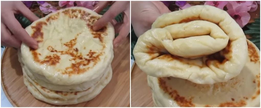 Аппетитные пышные лепешки — отличная альтернатива хлеба