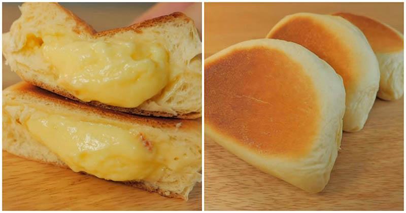 Пышные сдобные булочки с нежным заварным кремом без духовки