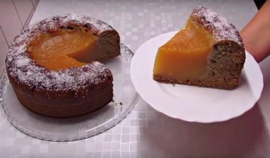 Обалденный постный пирог «Вулкан».