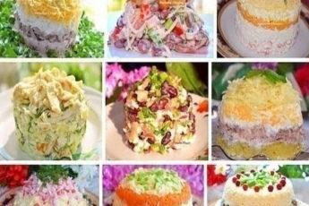 Рецепты вкусных праздничных салатов! Скоро пригодится!